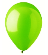 "9"" Standard Lime Green Latex (100 Per Bag)"