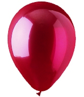 "9"" Crystal Red Latex (100 Per Bag)"