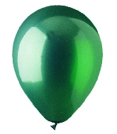 "9"" Crystal Emer Green Latex (100 Per Bag)"