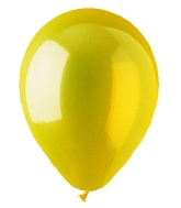 "9"" Crystal Yellow Latex (100 Per Bag)"