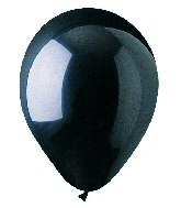 "9"" Crystal Black Latex (100 Per Bag)"
