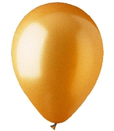 "9"" Metallic Gold Latex (100 Per Bag)"
