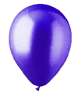 "9"" Metallic Deep Purple Latex (100 Per Bag)"