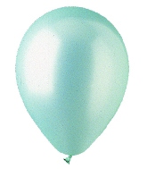 "9"" Pearl Seafoam Green Latex (100 Per Bag)"