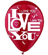 "12"" I Love You Latex 6 CT"