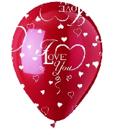 "12"" Crystal Ruby ""I Love You"" Latex 50's"