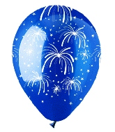 "12"" Festive Fireworks Crystal Blue Latex 50Count"