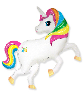 "41"" Jumbo Foil Shaped Balloon Rainbow Unicorn"