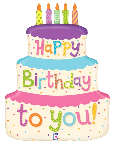 Super 27 Foil Shape Balloon Girly Happy Birthday Cake Bargain Personalised Birthday Cards Veneteletsinfo