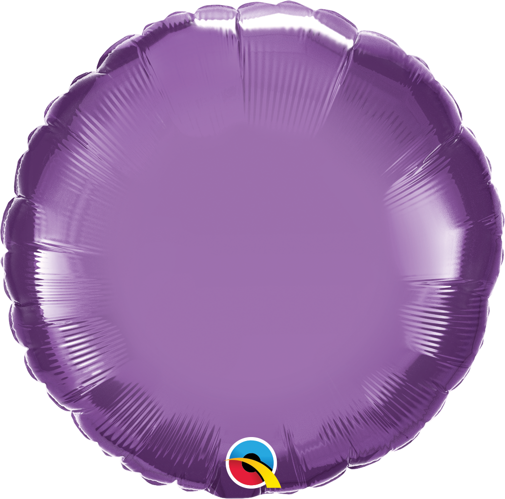 "18"" Round Qualatex Chrome™ Purple Foil Balloon"