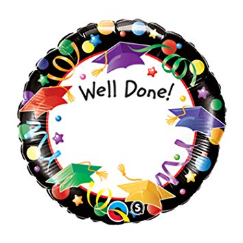 "18"" Well Done! Add A Name Foil Balloon"