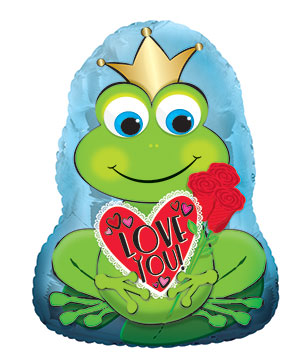 "22"" Royal I Love You Frog Foil Balloon"