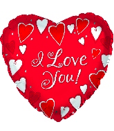 "13"" I Love You Classic Hearts Foil Balloon"