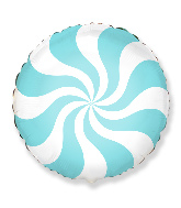"18"" Round Candy Peppermint Swirl Pastel Blue"
