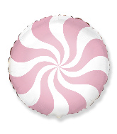 "18"" Round Candy Peppermint Swirl Pastel Pink"