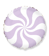 "18"" Round Candy Peppermint Swirl Pastel Violet"