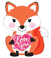 "22"" Love You Fox  Foil Balloon"
