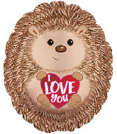 "20"" I Love You Hedge Hog Foil Balloon"