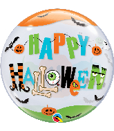 "22"" Round Halloween Fun Font Bubble Balloon"