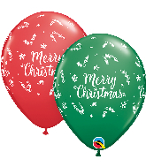 "11"" Christmas Evergreen Latex Balloons (50 Per bag)"