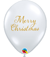 "11"" Merry Christmas Clear Latex Balloons (50 Per bag)"