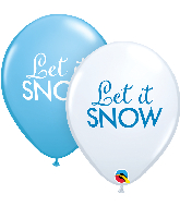 "11"" Let it Snow Assortment Latex Balloons (50 Per bag)"