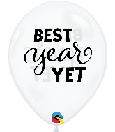 "11"" Best Year Yet Diamond Clear Latex Balloons (50 Per bag)"
