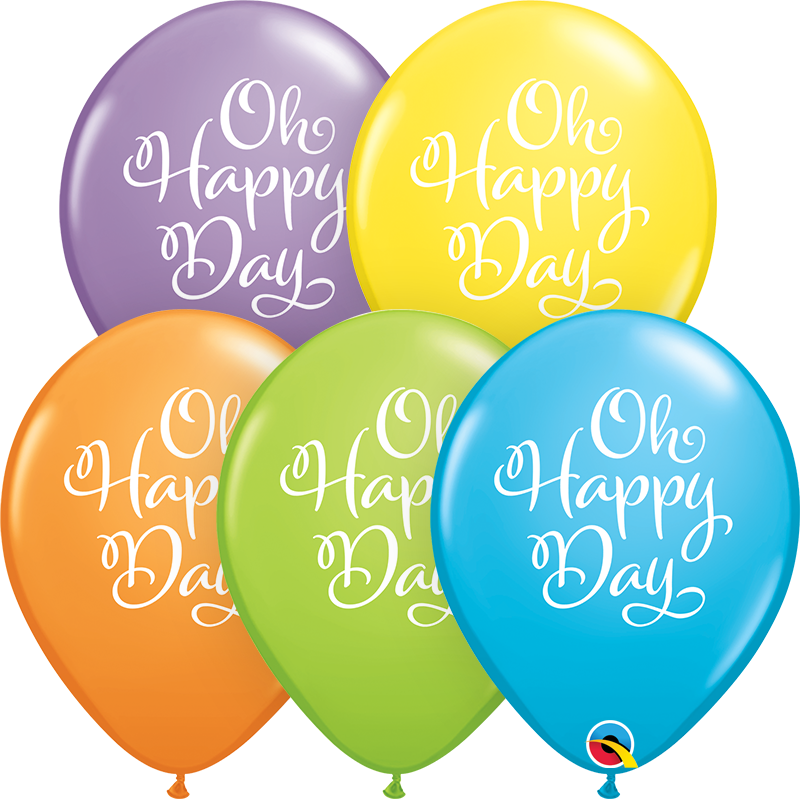 "11"" Simply Oh Happy Day Bright Pastel Latex Balloons"