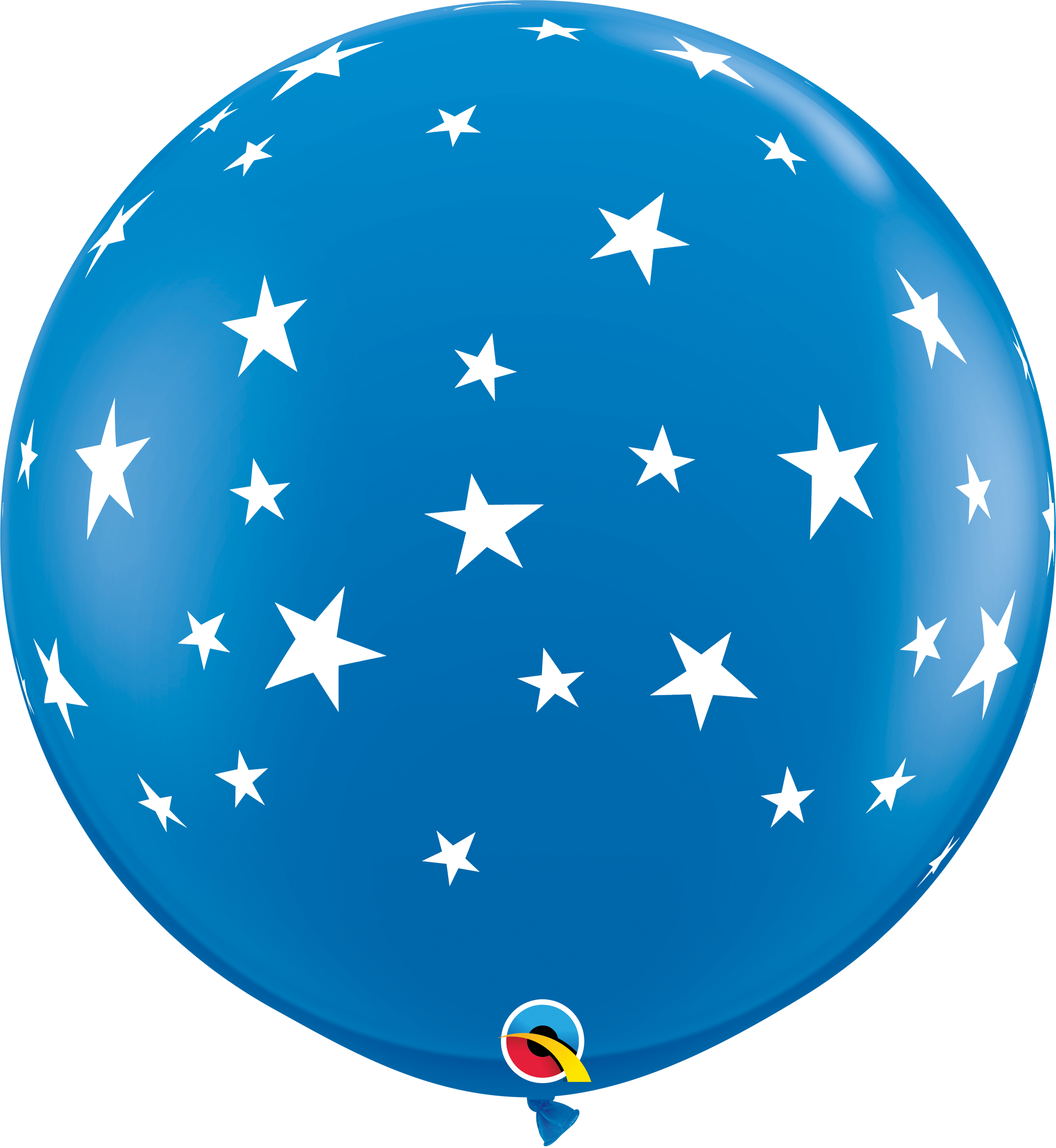 "36"" Contempo Stars-A-Round Dark Blue Latex Balloons"