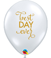 "11"" Simply Best Day Ever Diamond Clear Latex Balloons"
