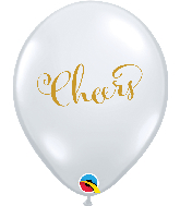 "11"" Simply Cheers Diamond Clear Latex Balloons"