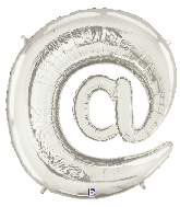 "40"" Foil Balloon"" At"" Symbol ( @ ) Silver"