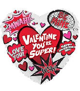 "18"" Super Valentine's Day Graphic Foil Balloon"