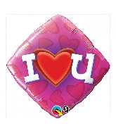 "18"" Love Heart U Mylar Balloon"
