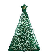 "39"" Damask Christmas Tree"