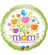 "18"" Mother&#39S Day Blooming Hearts Foil Balloon"