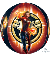 "16"" Captain Marvel Orbz Foil Balloon"