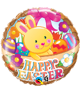"18"" Easter Basket & Bunny Foil Balloon"