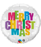 "18"" Merry Christmas Colors Foil Balloon"