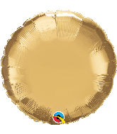 "18"" Round Qualatex Chrome™ Gold Foil Balloon"
