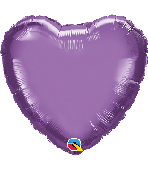 "18"" Heart Qualatex Chrome™ Purple Foil Balloon"