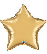 "20"" Star Qualatex Chrome™ Gold Foil Balloon"