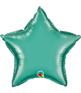 "20"" Star Qualatex Chrome™ Green Foil Balloon"