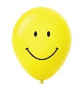 "11"" Smiley Face Latex Balloons 25 Count Yellow"