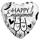 "18"" Happy Engagement Glasses Foil Balloon"
