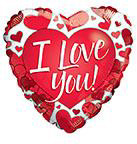 "18"" I Love You Red Hearts Foil Balloon"