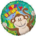 "18"" Monkey Birthday Foil Balloon"