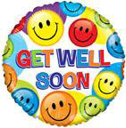 "18"" Get Well Soon Smilies Foil Balloon"