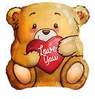 "18"" Love Bear Foil Balloon"