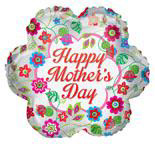 "18"" Mother's Day Classic Flowers Foil Balloon"